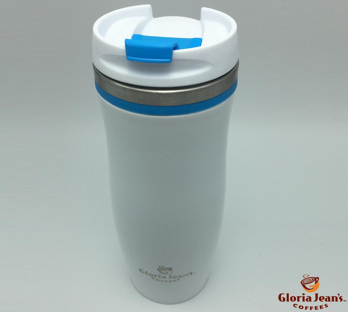 Termosuri Gloria Jeans Coffees Romania - Thermal Crema Alb Albastru