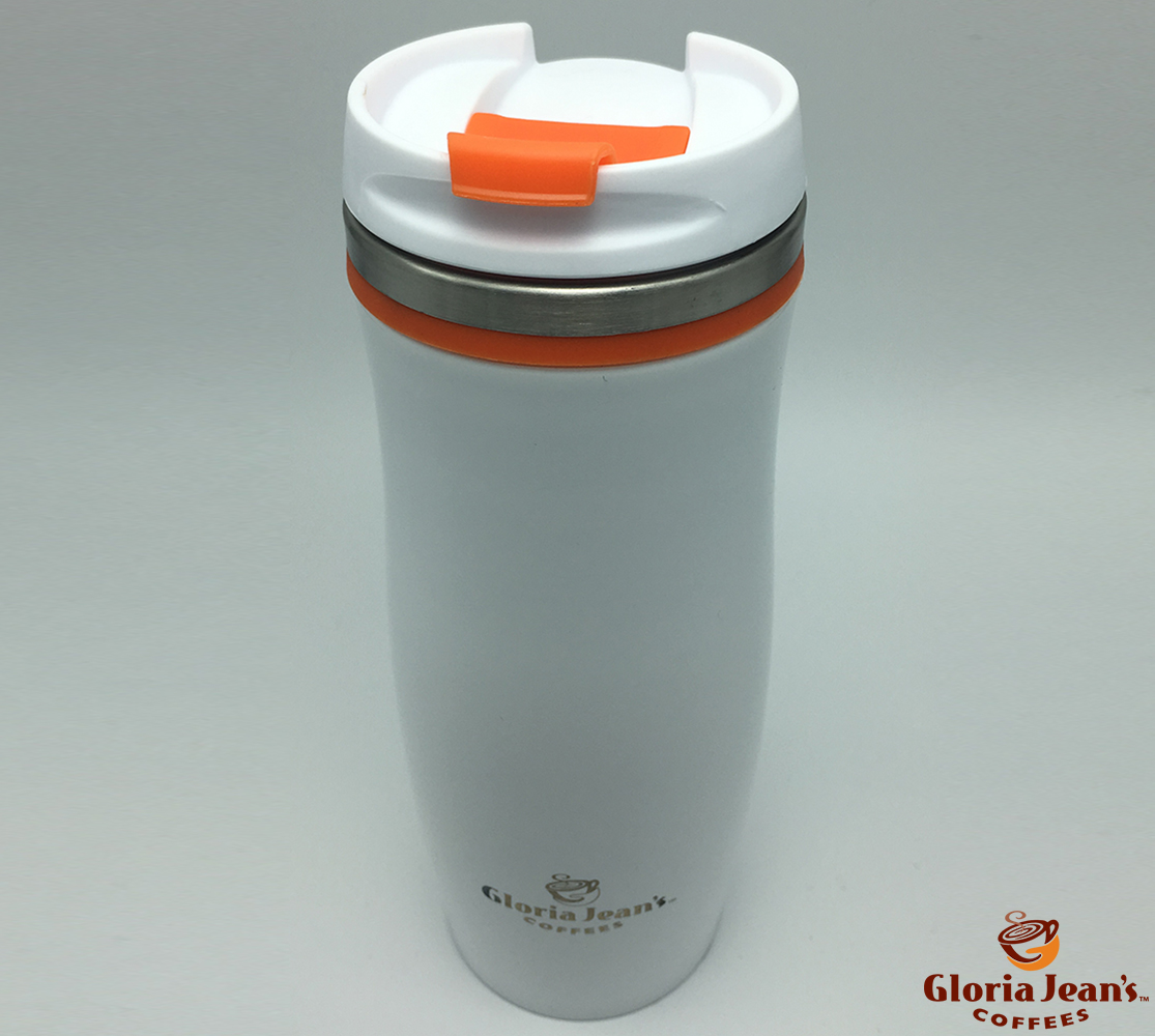 Termosuri Gloria Jeans Coffees Romania - Thermal Crema Alb Portocaliu